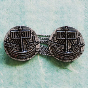 Caravel Cloak Clasps --A Nagle Forge & Foundry Original