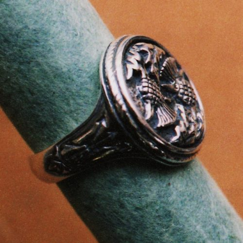 Double Thistle Seal Ring
