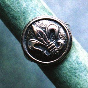 Fleur de Lis Seal  Ring