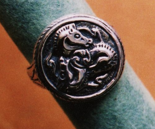 Triskelene Horse Seal Ring