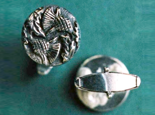 Sterling Silver Double Thistle Cufflinks...