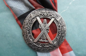 St. Andrew of Scotland Plaid Brooch